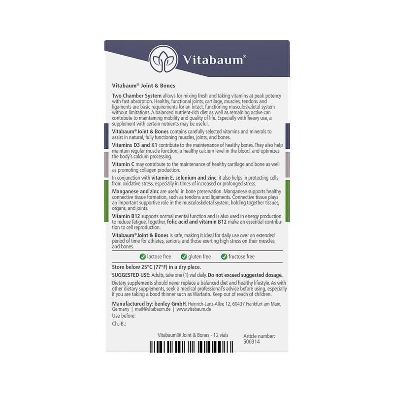 Vitabaum  Joint & Bones Vitamins 12 vials, 10ml each