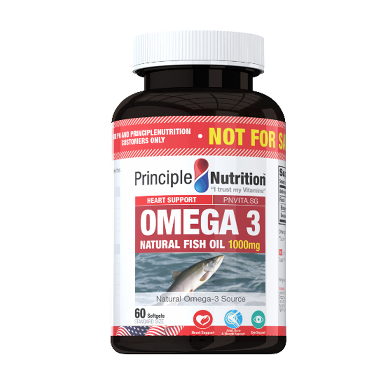 Principle Nutrition Omega 3 Fish Oil 60s