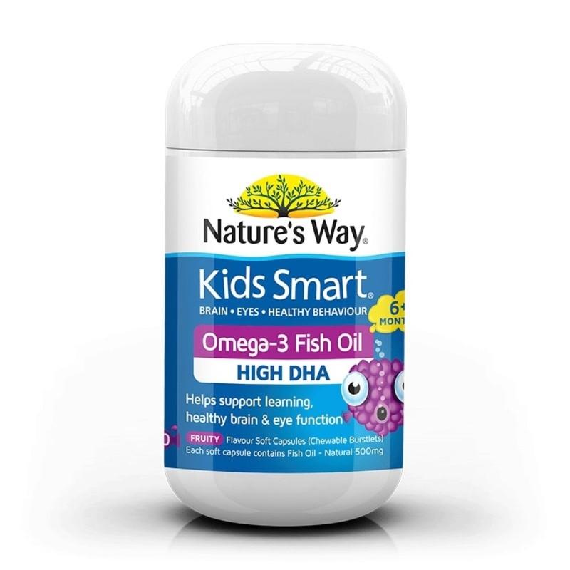 Nature's Way Kids Smart Burstlets Omega-3 Fish Oil Fruity, 50 capsules