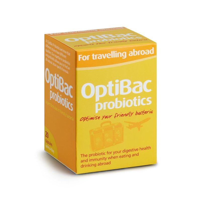 OptiBac Probiotics for Travelling Abroad, 20 fapsules