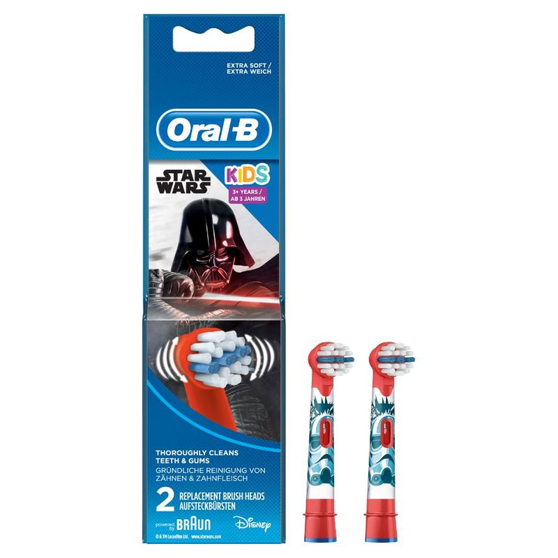 Oral-B Kids Starwars Replacement Brush Heads 2 count