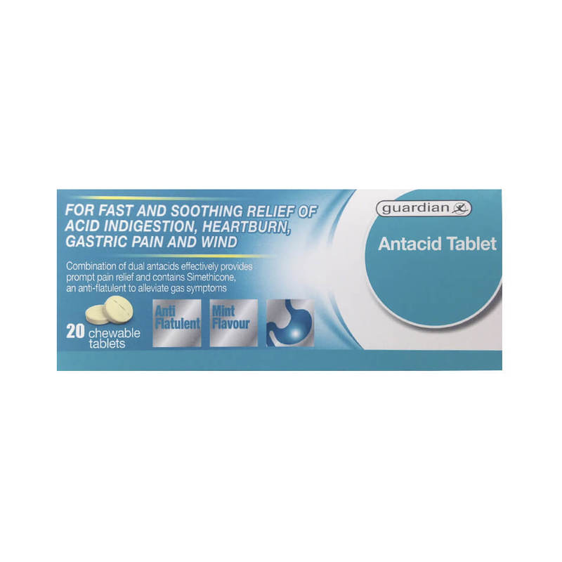 Guardian Antacid Tablet, 20 tablets