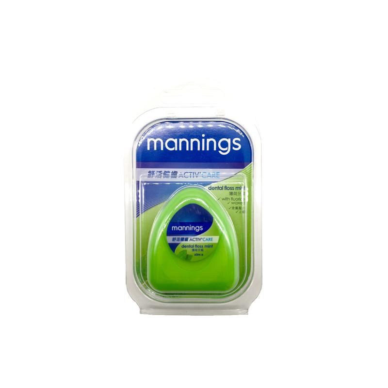 Mannings Dental Floss Mint Toothpick 60m
