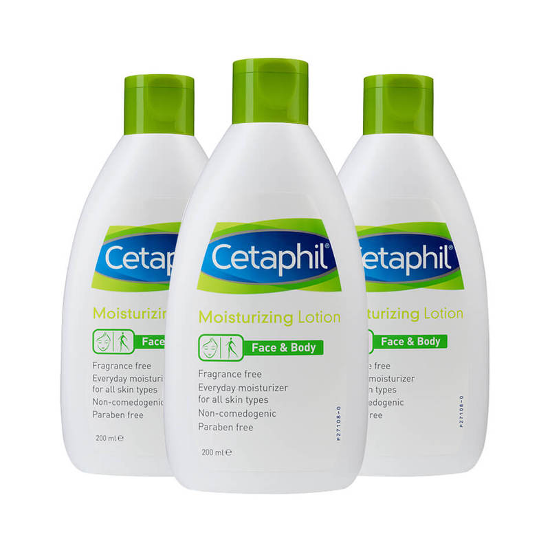 Cetaphil Moisturizing Lotion Triple Pack, 3x200ml