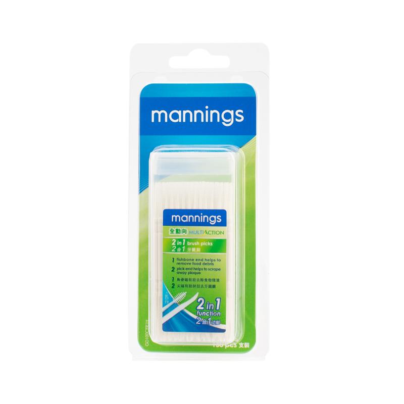 Mannings 2-In-1 Brush Picks 100s