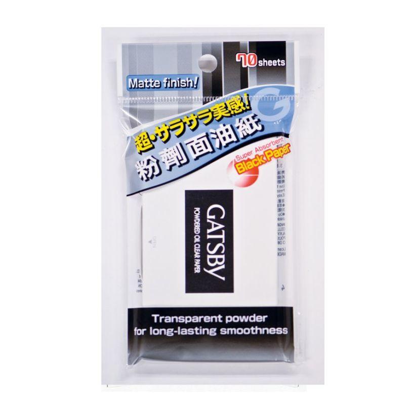 Gatsby Paper Oil Clear Powder, 70pcs