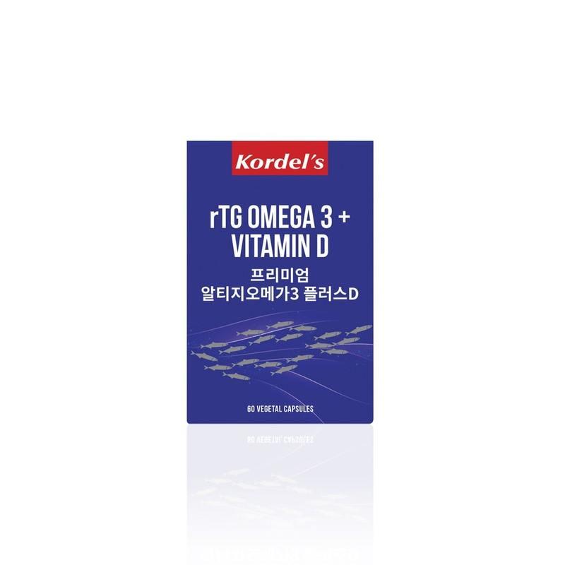 Kordel's rTG Omega 3 + Vitamin D, 60 capsules