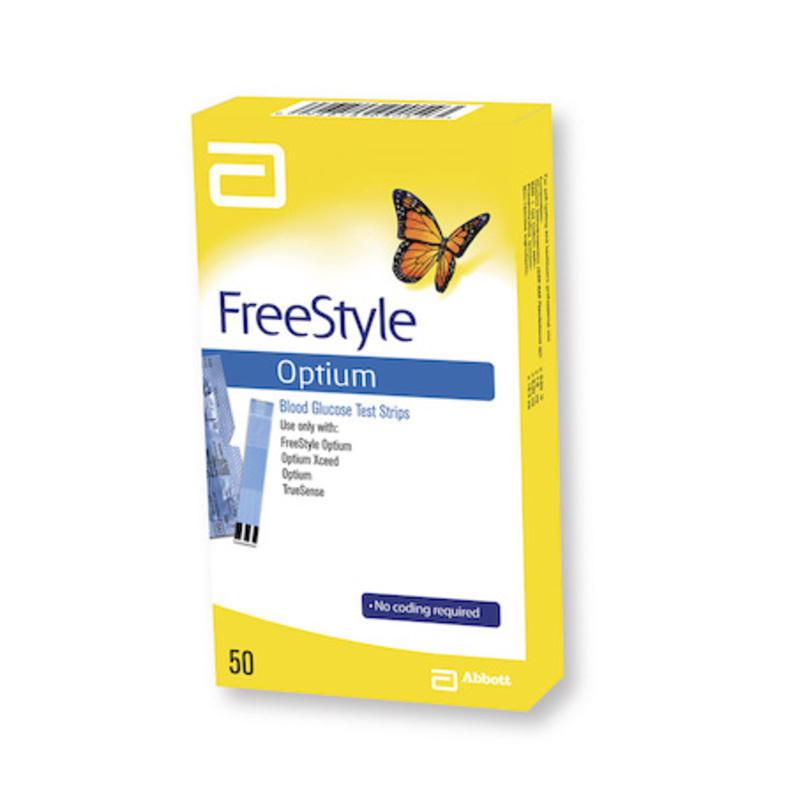 FreeStyle Optium Test Strips, 50pcs