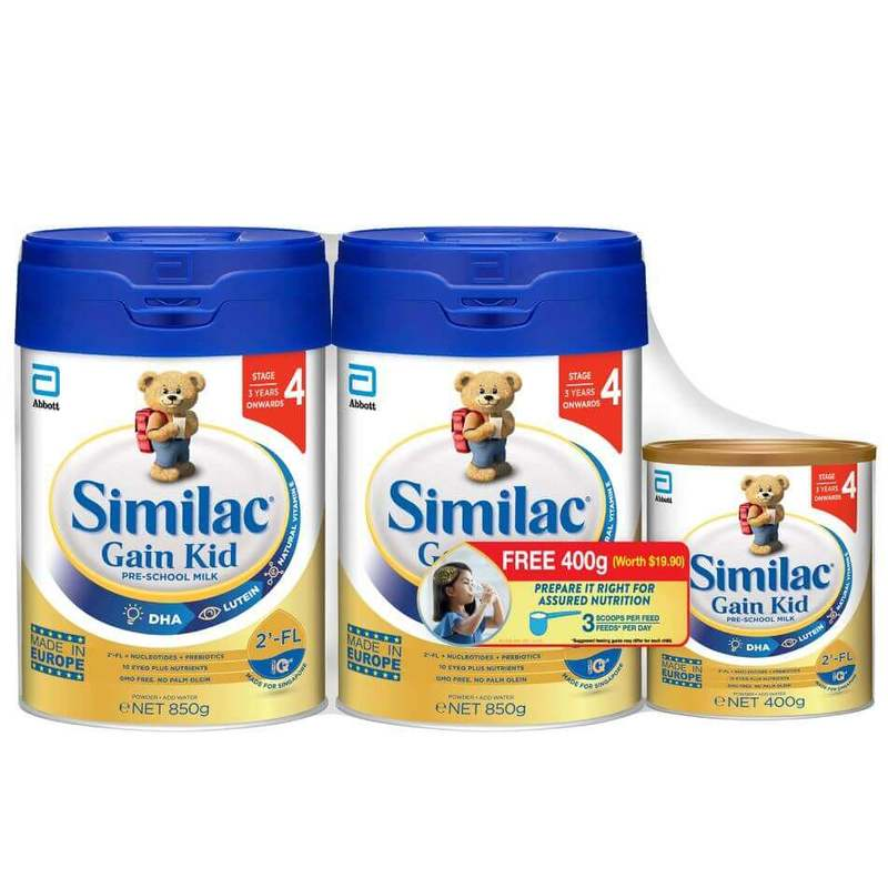 Similac Gain Kid 2-FL Stage 4 850g Twinpack Bw 400g