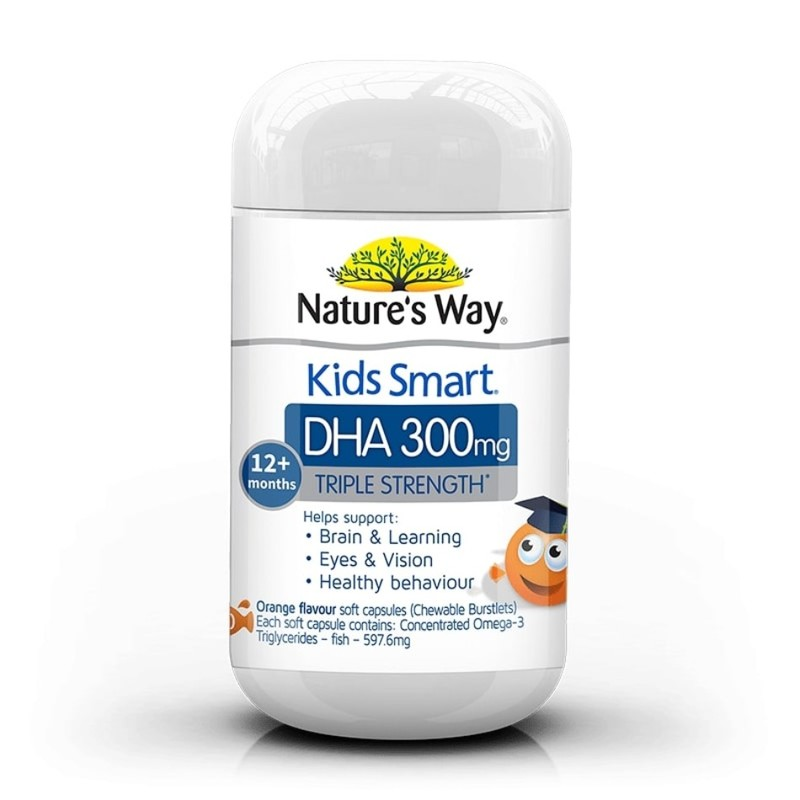 Nature's Way Kids Smart Triple Strength DHA 300mg, 50 capsules