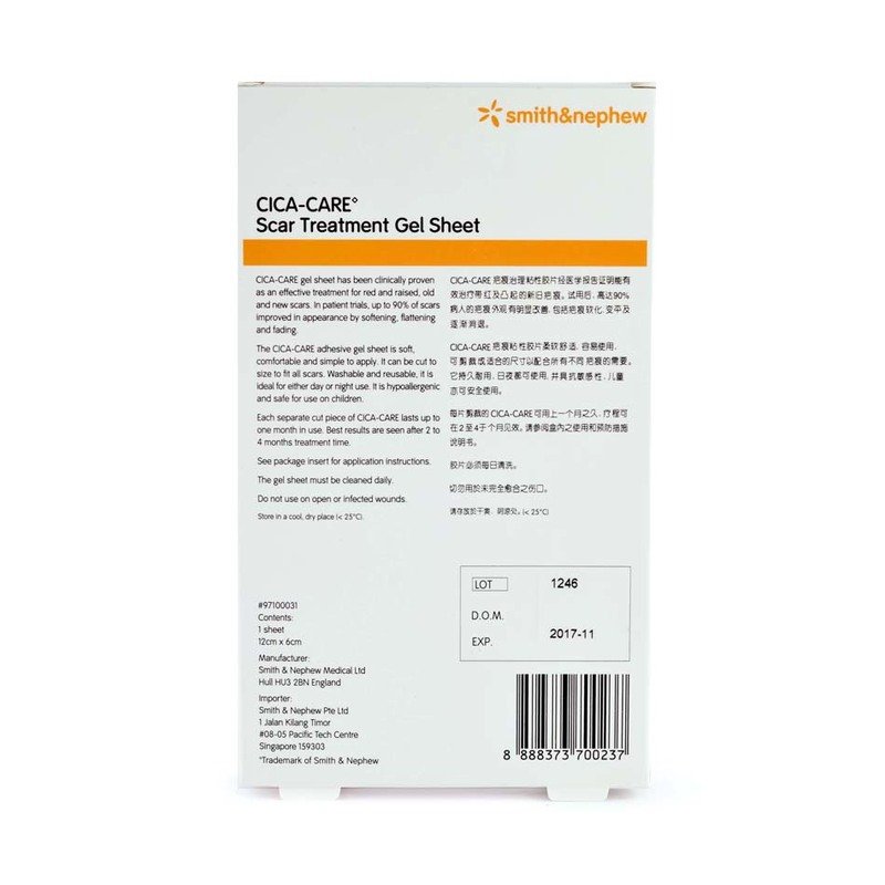 Smith & Nephew CICA-CARE 12cm x 6cm Scar Treatment Gel Sheet 1pc