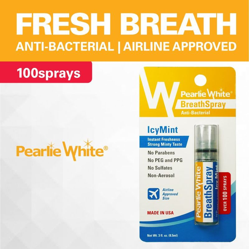 Pearlie White Breath Spray Icymint, 0.3oz