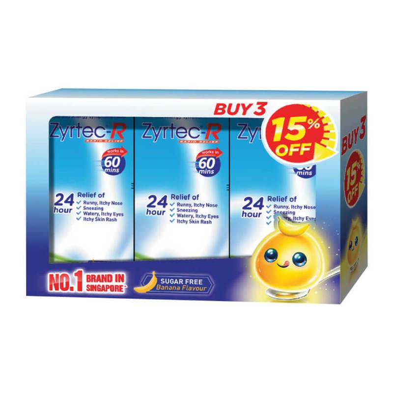 Zyrtec R Solution Triple Pack, 3x75ml
