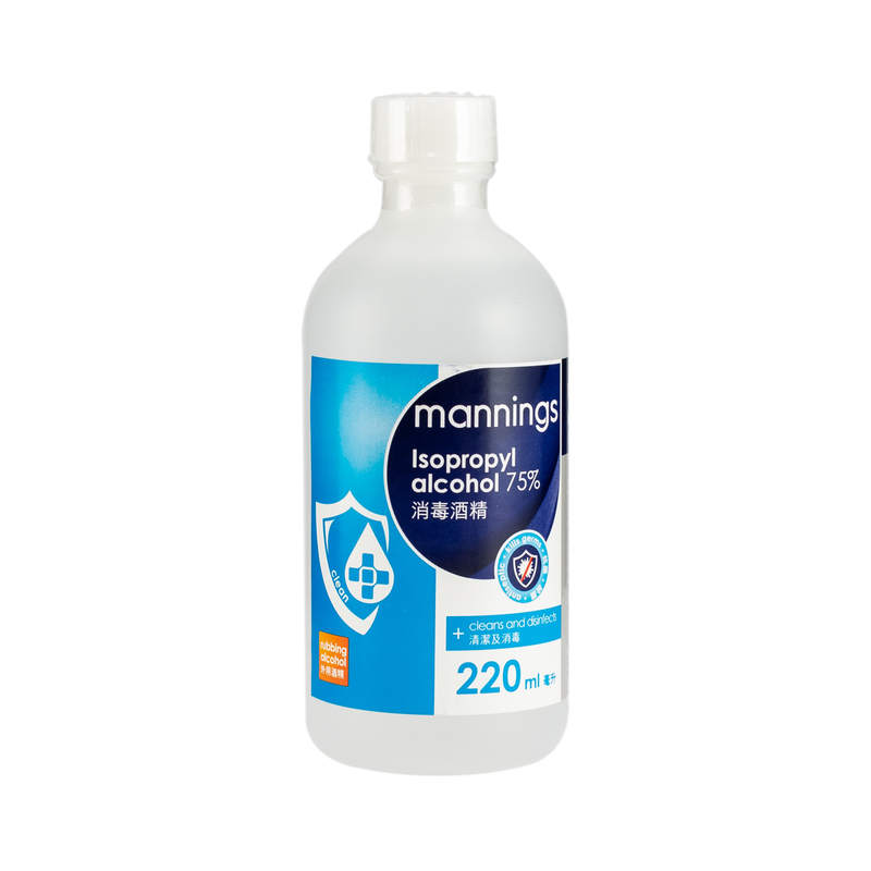 Mannings Isopropyl Alcohol 75% 220mL