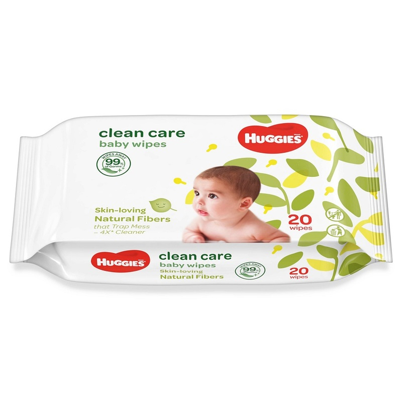 Huggies Clean Care Baby Wipes, 20s