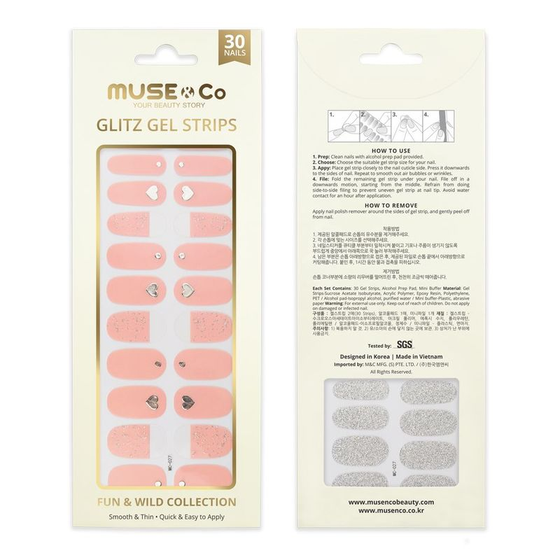 MUSE & Co - Glitz Gel Strips - Sweetheart