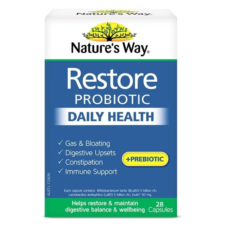 Nature's Way Restore Probiotic Daily Health, 28 capsules