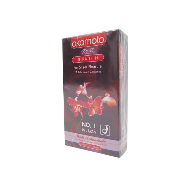 Okamoto Orchid Ultra Thin Condoms, 12pcs