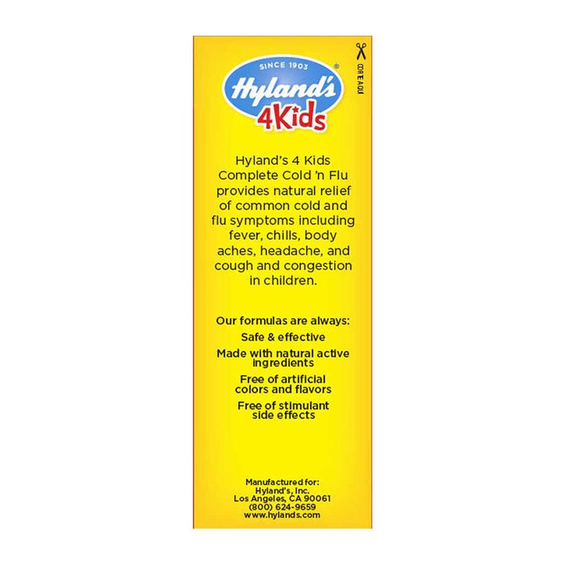 Hyland's 4Kids Complete Cold 'n Flu (Ages 2-12) 118ml