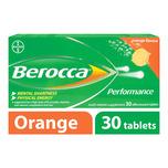 Berocca Performance Vitamin B Orange Energy Effervescent Tablet, 30 tablets