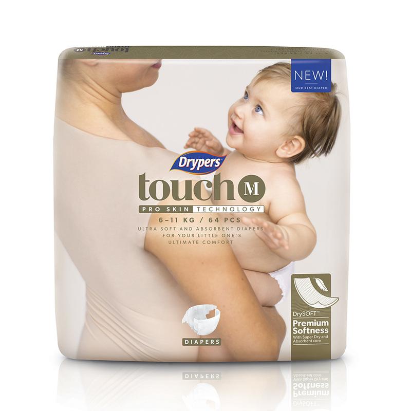 Drypers Touch M (6-11kg), 64pcs