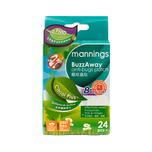Mannings Buzzaway Antibug Pat-Pmd 24pcs