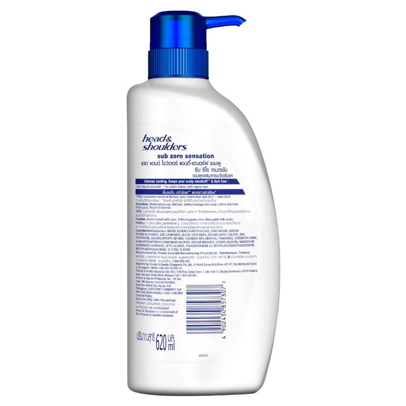 Head & Shoulders Sub-zero Anti-Dandruff Shampoo, 620ml
