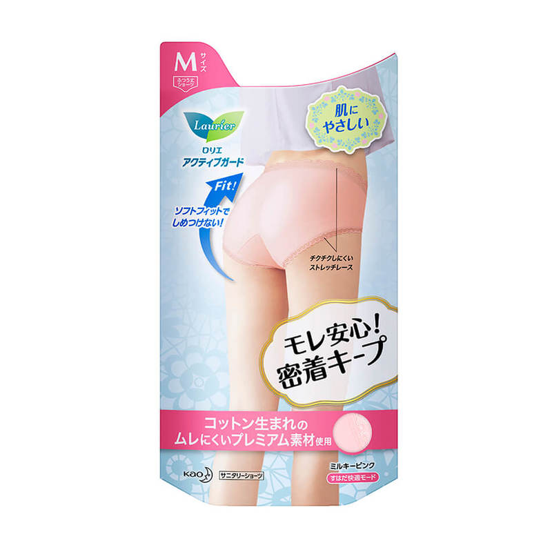 Laurier Superguard Sanitary Panties Milky Pink Size M