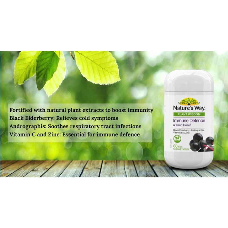 Nature's Way Plant Wisdom Immune Defence 60S