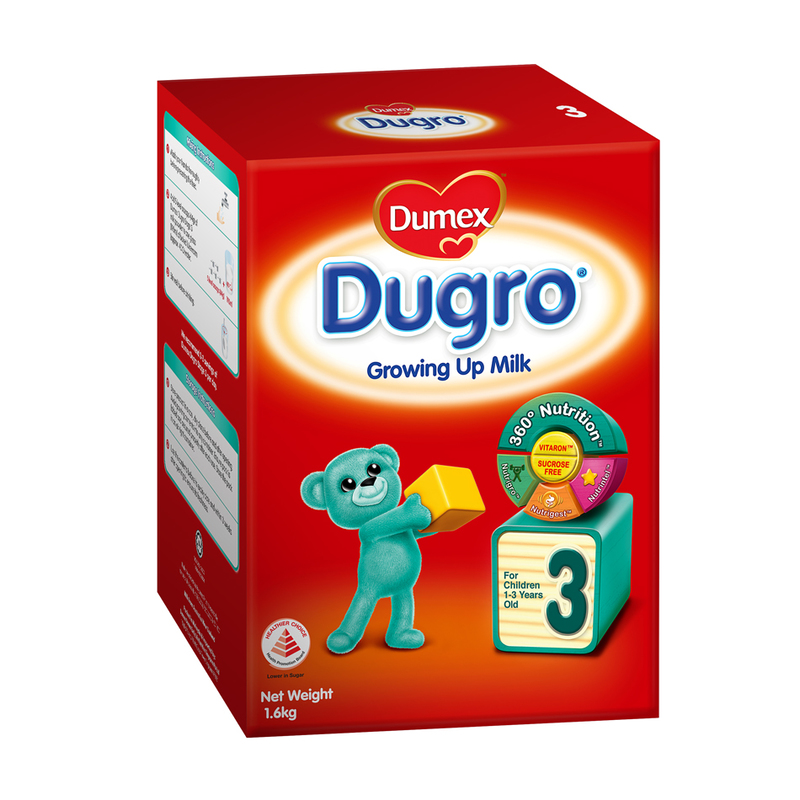 Dumex Dugro Stage 3 Growing Up Baby Milk Formula, 1.6kg