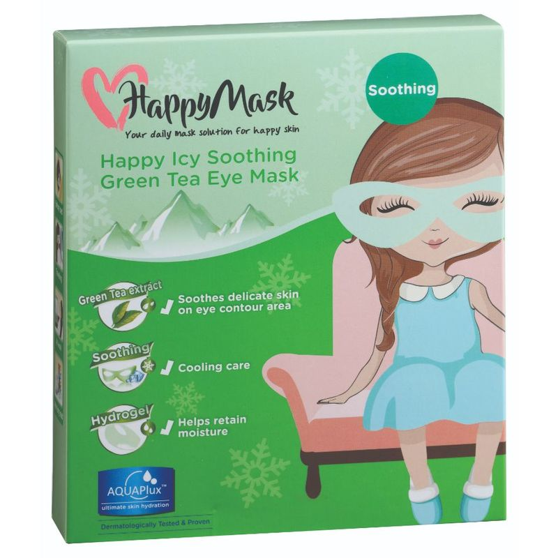 HappyMask Happy Icy Soothing Eye Mask Green Tea, 5pcs