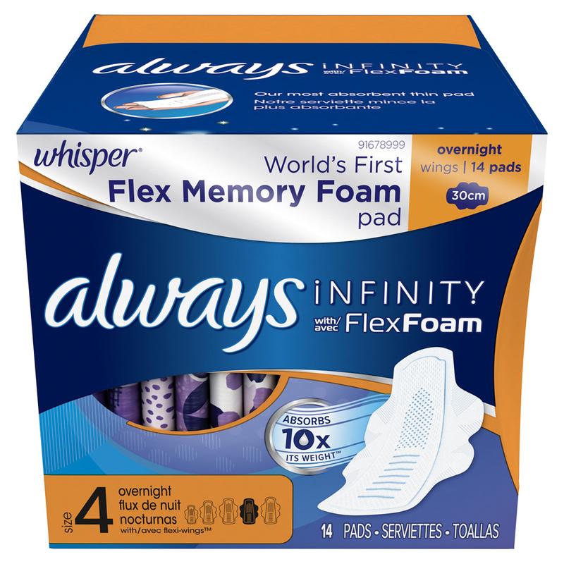 Whisper Always Infinity Pad 30cm, 14pcs