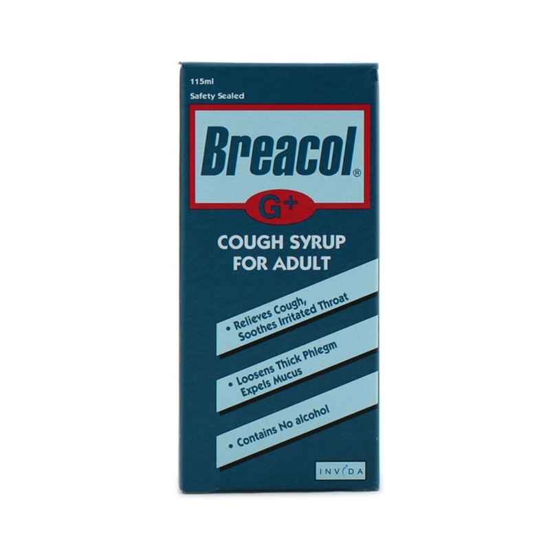 Breacol G+ Cough Syrup For Adult, 115ml