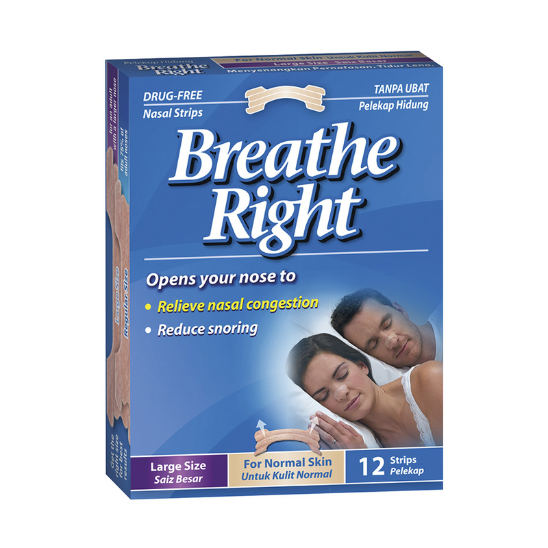 Breathe Right Nasal Strip Tan Large, 12pcs