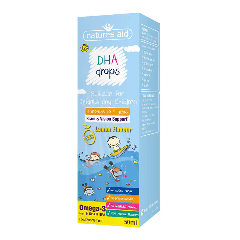 Natures Aid Dha Omega-3 Drops For Infants & Children, 50ml