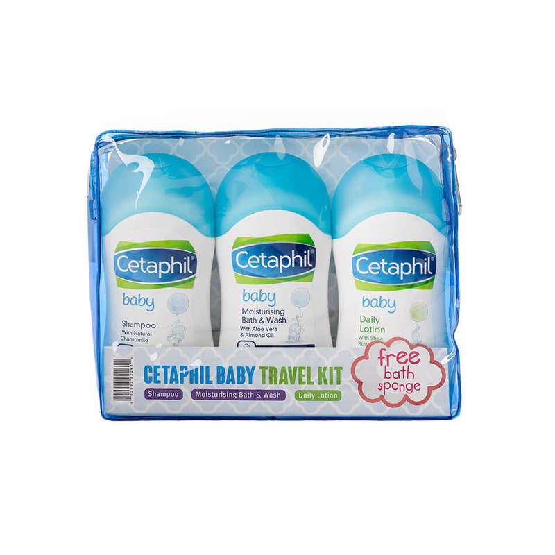 Cetaphil Baby Travel Kit with Free Bath Sponge