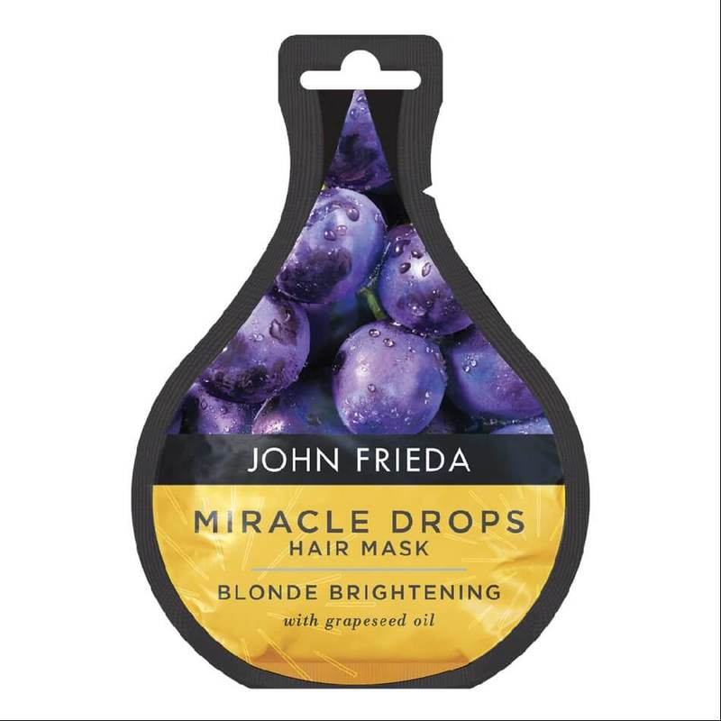John Frieda Miracle Drops Blonde Brightening Hair Mask, 25ml