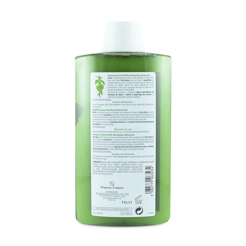 Klorane Nettle Shampoo, 400ml