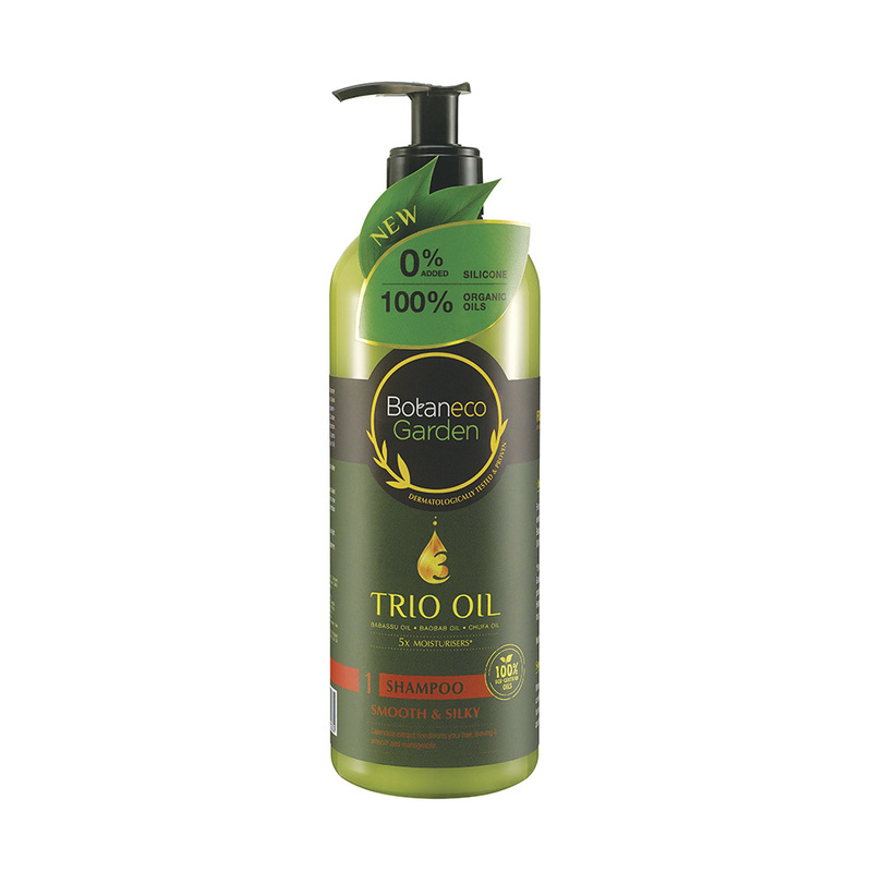 Botaneco Garden Trio Oil Shampoo Smooth & Silky, 500ml