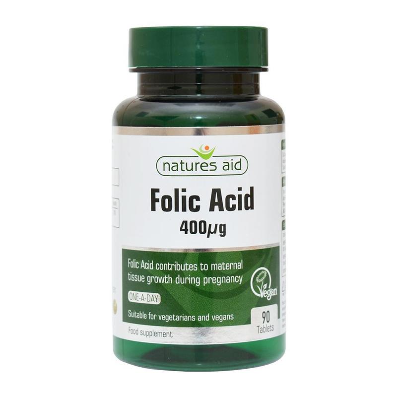 Natures Aid Folic Acid 400ug 90's