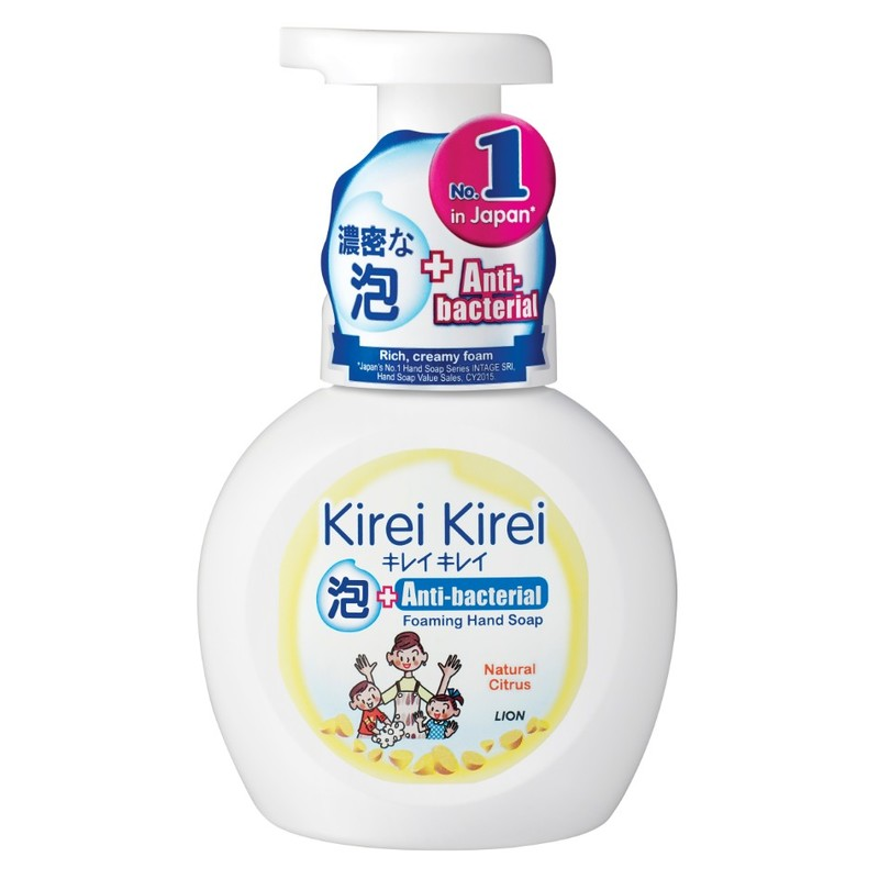 Kirei Kirei Anti-bacterial Foaming Hand Soap Natural Citrus, 250ml