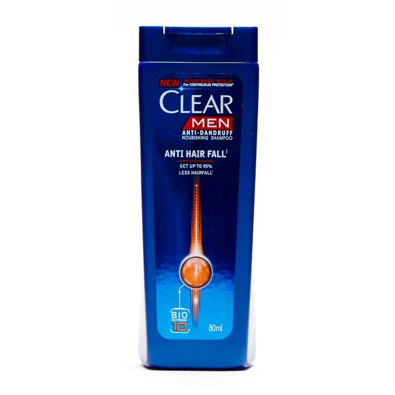 Clear Men Anti Hair Fall Anti Dandruff Shampoo, 80ml