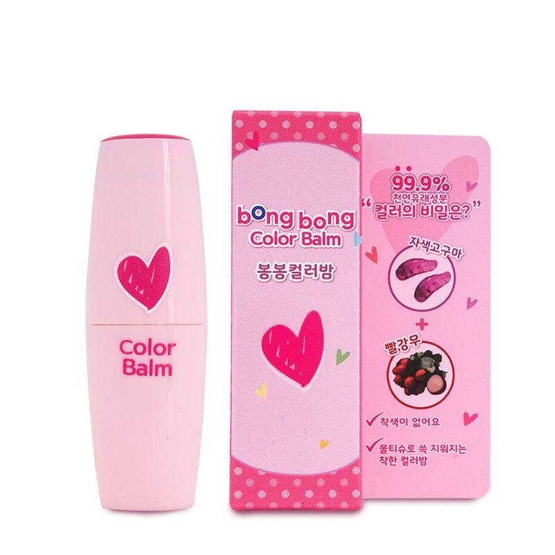 Bong Bong Friends Color-Balm Rose Pink, 3.5ml