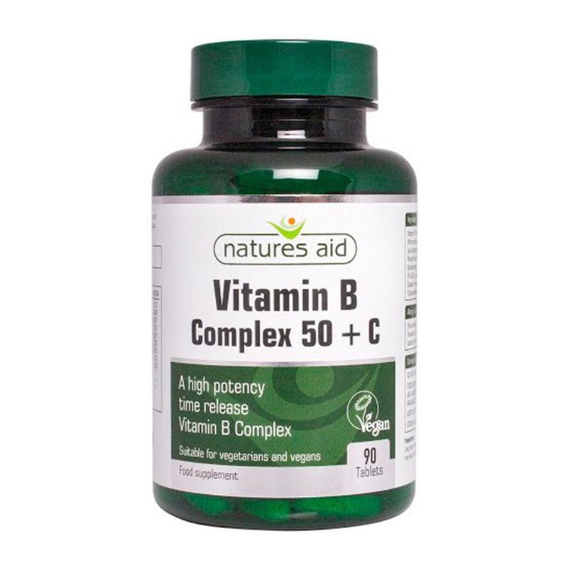 Natures Aid Vitamin B Complex 50+, 90 tablets