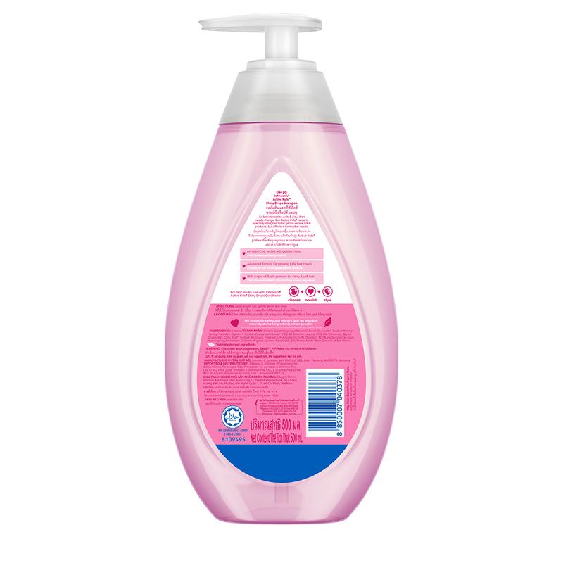 Johnson's Baby Active Kids Shiny Drops Shampoo 500ml
