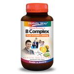 Holistic Way B Complex Plus Vitamin C 500mg (60 Vegetarian Capsules)