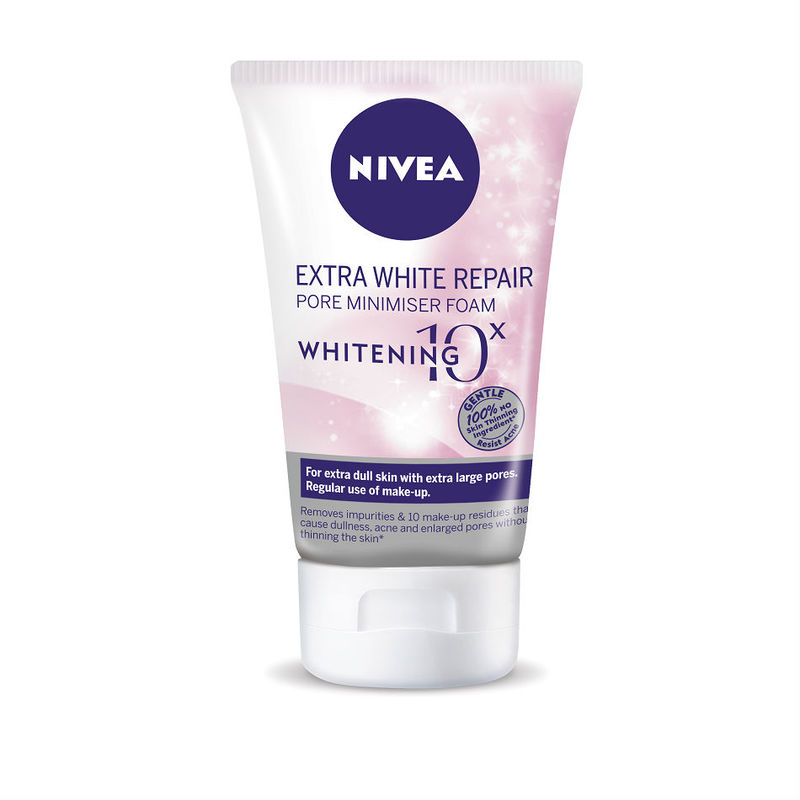 Nivea Extra White Repair Pore Minimiser Foam, 100g