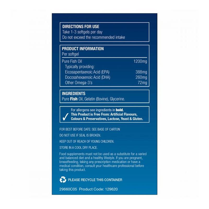 Natures Aid Super Strength Fish Oil Omega-3, 60 softgels