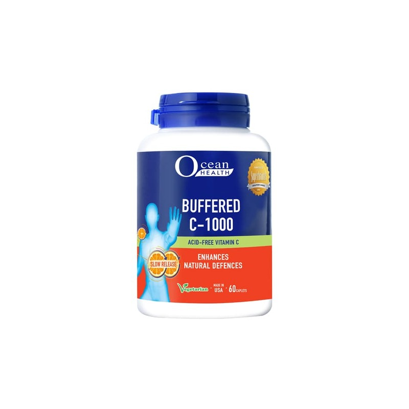 Ocean Health Buffered C-1000 with Citrus Bioflavonoids, 60 caplets