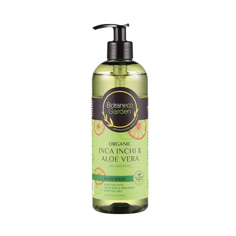 Botaneco Garden Incha Inchi and Aloe Vera Body Wash Grape Seed & Bergamot, 500ml